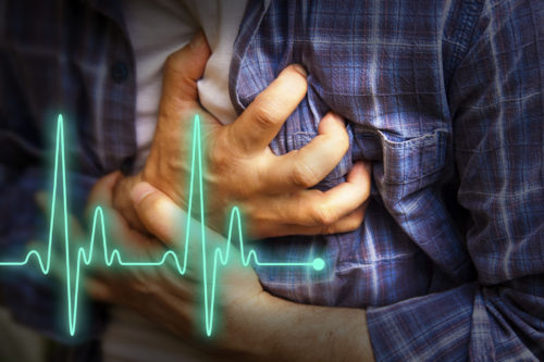 A patient with chest pain